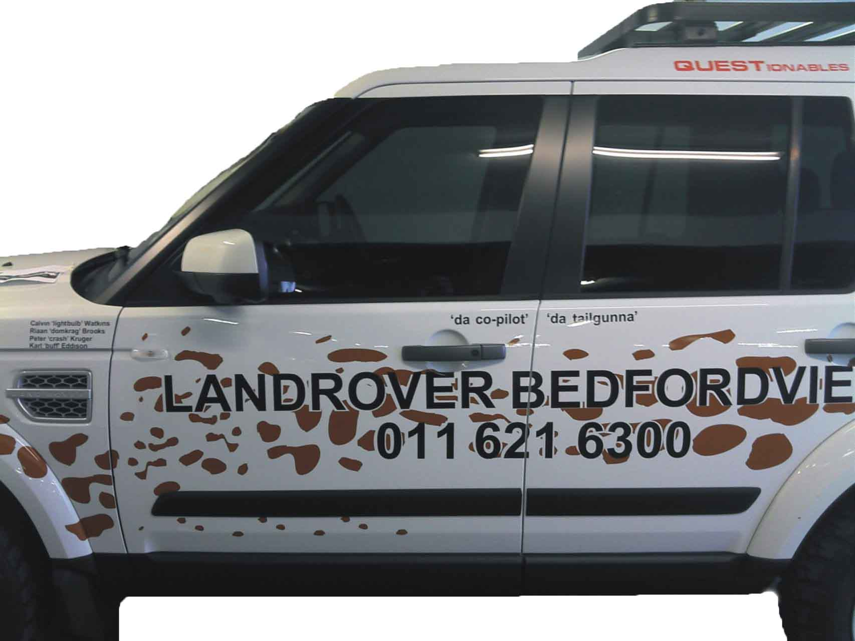 LandRover Bedfordview Signage
